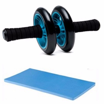 Abdominal Wheel Gym Exercise Roller with Extra Thick Knee Pad Mat-for Best Abs Workout-perfect Fitness Equipment