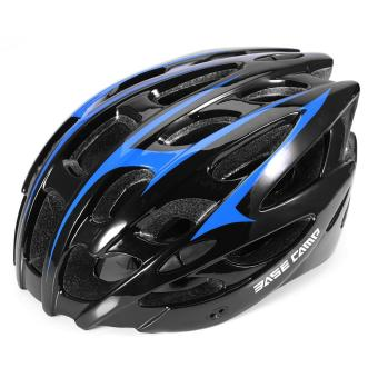 Adjustable Adult Road Bicycle Helmet Cycling Safety Protection(Black and Blue) - intl