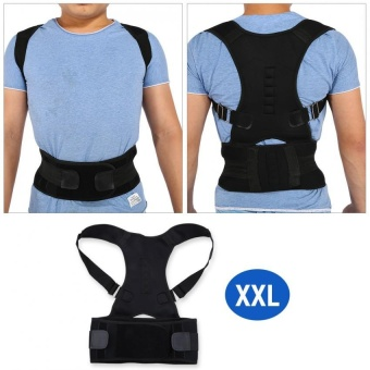 Adjustable Shoulder Brace Support Straighten Back for Posture Correction (XXL) - intl
