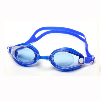Adult Recreational Swimming Goggles Antifog Waterproof HD Sports Outdoors Individual Blue Color - INTL