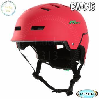 Aidy Best Helmet Sport Bicycle Helmet Large Adjustable CW-046 (None Polish Red) - 2