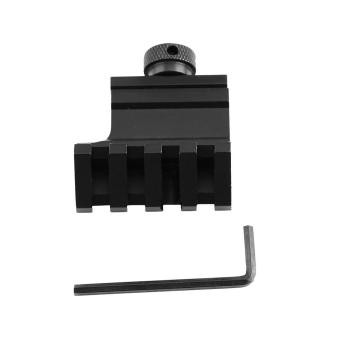 Aluminum Alloy 45 Degree Offset Rail Mount Weaver Quick Release Adapter Tactical Accessories - intl