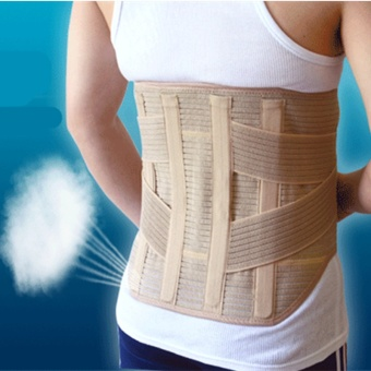 Back Magnetic Therapy Waist Support Belt Widen Lumbar Support Brace Breathable Mesh Steels Plate Protection Sport Belts 3 size - intl