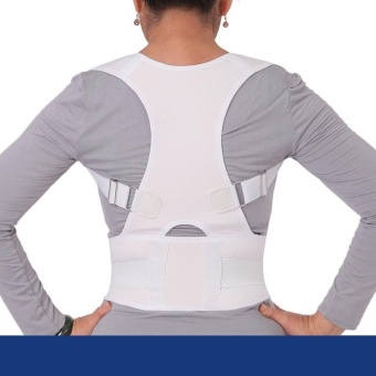 Back Posture Corrector Back Shoulder Support Brace Belt StudentsBack Posture Correction Belt XL (White) - intl Price Philippines