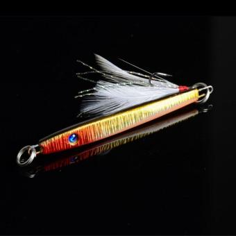 Bait Jig Crankbaits Bass Tackle Hook 11g/5.7cm Lead Fishing Lure with Feather - 2