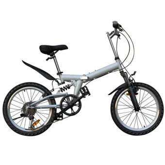 BC20 20 Inch 6 Speed Fashion Portable Folding Bike (Silver)