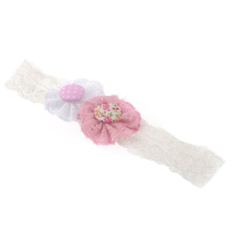 Beautiful Cute Elastic Lace Flower Style Baby Girl Headwear Headband Ornament Hair Accessory