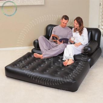 Bestway 5 In 1 Inflatable Sofa Air Bed Couch Black
