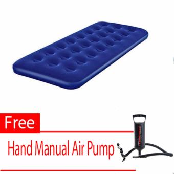 Bestway Inflatable Airbed (Single Size) With Free (Hand Manual Air Pump)