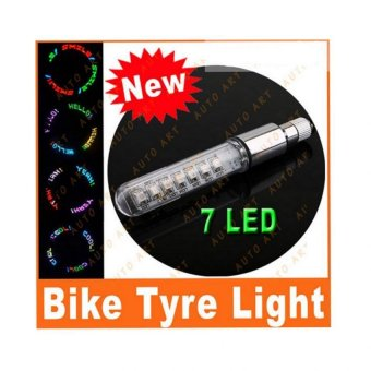 Bicycle and Motorcycle Fitting Lamp Tire Spoke Wheel Valve Flash 7LED Light Neon (multicolor)