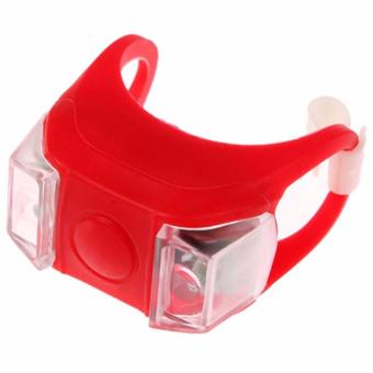Bike Bicycle Frog Rear Front Tail Warning Light Safety Cycling Lamp LED Headlight (Red)