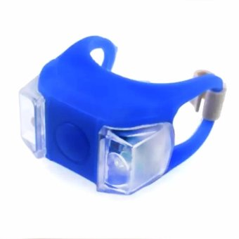 Bike Bicycle Frog Rear Front Tail Warning Light Safety Cycling LampLED Headlight (Blue)