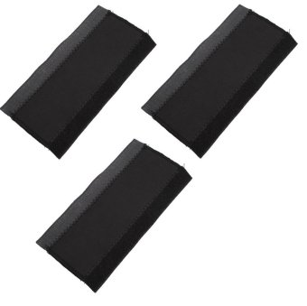 Bike Chain Stay Frame Protector Guard Pad Set of 3 pcs #0166(Black)