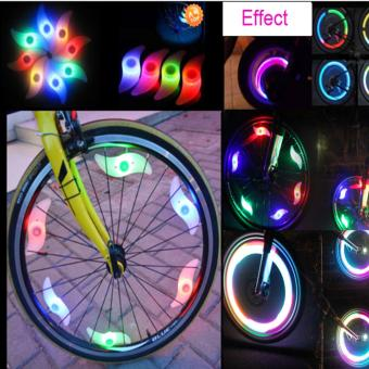 Bike Cycling Spoke Wire Tire Tyre Wheel LED Bright Light LampMountain Bike Light Accessories (Green) - intl