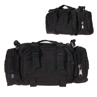 BlackOutdoor Tactical Waist Fanny Pack Purse Military Travel Camping Hiking Bags