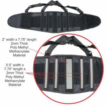 BODYCARE #BS03 Back Support Belt, 5pcs Stabilzer Lumbar Support, Knitted Mesh Fabric Air-Flow Waist Wrap Unisex - 2