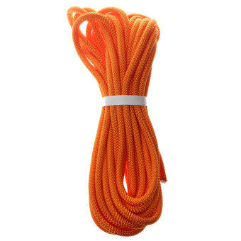 BolehDeals 8mm Climbing Safety Sling Rappelling Rope Auxiliary Cord Orange 10m