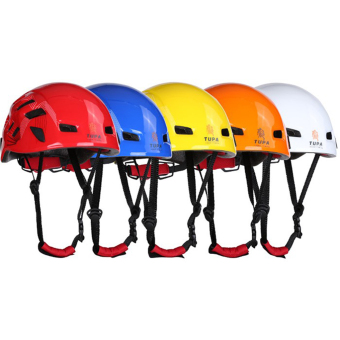 BolehDeals Outdoor Mountaineering Helmet Safety Climbing Rappelling Protector Gear Red - 3