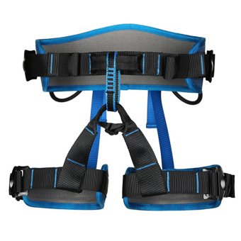 BolehDeals Outdoor Rock Tree Climbing Rappelling Safety Belt Sit Harness Blue
