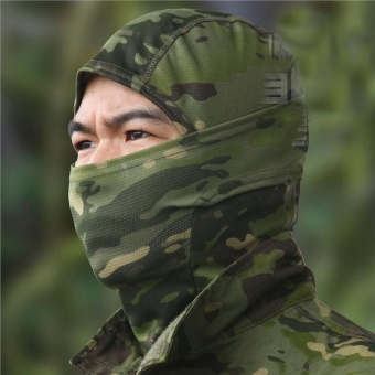 Camouflage Hood Ninja Outdoor Cycling Motorcycle Hunting Military Tactical Helmet Liner Gear Full Face Mask (Jungle Camouflage) - intl - 5