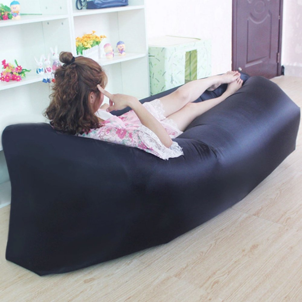 charcoal microfiber click clack futon sofa bed lounger couch