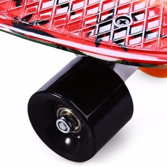 CL-24 22 inch Graffiti Maple Leaf Retro Skateboard Longboard Mini Cruiser - intl - 5