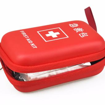 Complete Travel Size Emergency First Aid Kit Bag - Red - 2