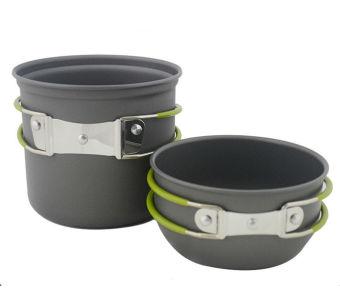 Cookware Outdoor Pan Camping Hiking Backpacking Cooking Picnic Bowl Pot DE - intl
