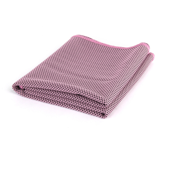 Cooling Ice Towel for Sports Outdoor Exercise Pink + Black