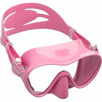 Cressi F1 Pink Frameless Scuba Diving Mask Tempered Glass SingleLens One Window Low Volume Snorkeling Swimming Mask