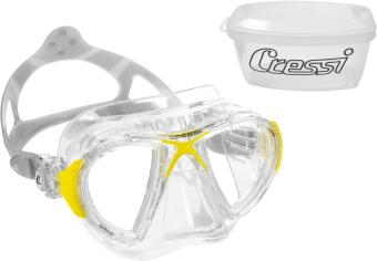Cressi Nano Crystal Clear/Yellow Diving Mask Free Diving Mask Snorkeling Mask - picture 2