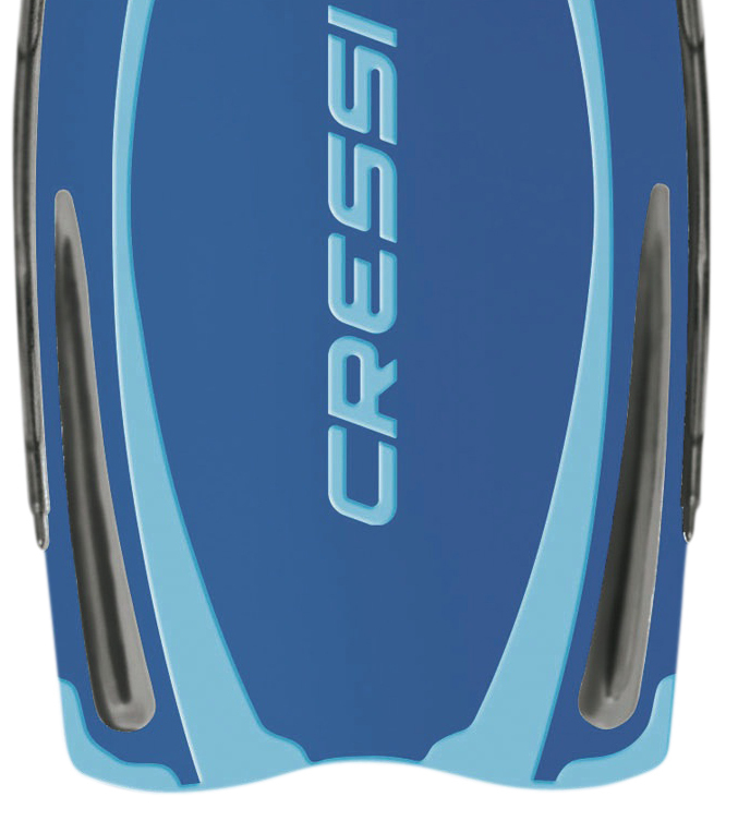 CRESSI REACTION PRO BLUE/AZURE scuba diving fins ...
