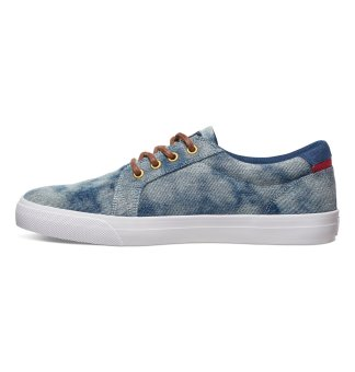 DC Men's Council Tx Se Low Cut (Indigo Bleached Vintage) - 3