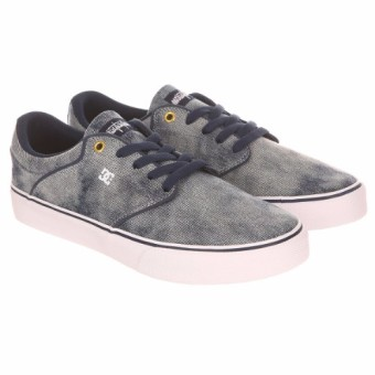 DC Men's Mikey Taylor Vulcanized Low Cut (Grey Rinse) - 2