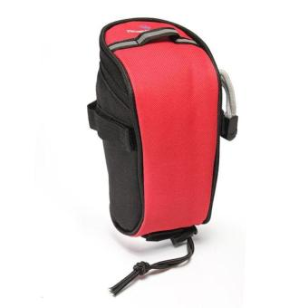 DHS Roswheel Bicycle Cycling Saddle Seat Pouch Bag (Red) - INTL