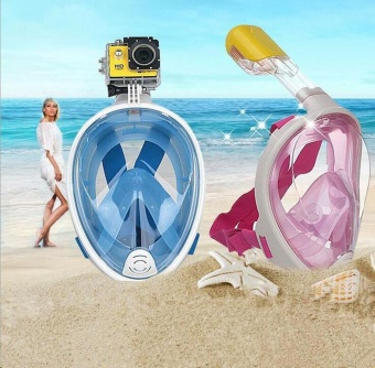 Diving Mask Anti Fog Detachable Dry Snorkeling Full Face Mask SetScuba - intl - 2