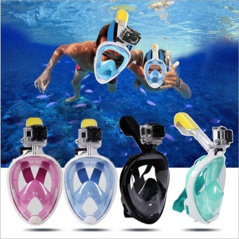 Diving Mask Anti Fog Detachable Dry Snorkeling Full Face Mask SetScuba - intl