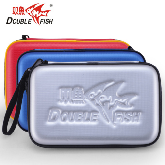 Double fish hard shot box table tennis ball bag table tennis racket Sets