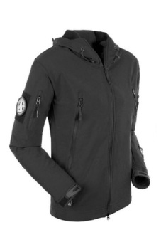 ESDY Soft Shell Tactical Windproof Jacket Black - 2