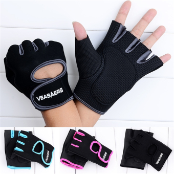 ETOP Cycling GYM Half Finger Gloves Exercise Training (Black) - 5