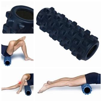 EVA Grid Foam Massage Roller Yoga Pilates Fitness Physiotherapy Rehabilitation (Dark Blue) - picture 2