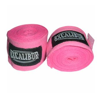 Excalibur Cotton Handwraps 3.5Mtrs (Pink)