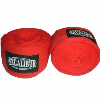 Excalibur Cotton Handwraps 3.5Mtrs (red)