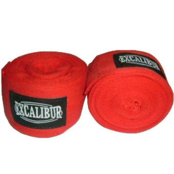 Excalibur Cotton Handwraps 5Mtrs (Red)