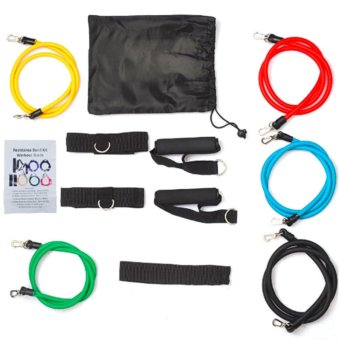 Exercise Resistance Bands Set Yoga Fitness Workout Stretch HeavyDuty Tubes (Multicolor) SET
