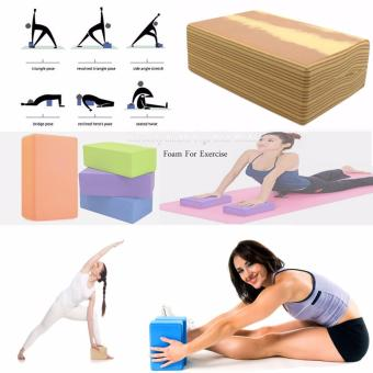 Extremely Durable Yoga Brick Blocks Foam For Exercise (WoodenBrown)