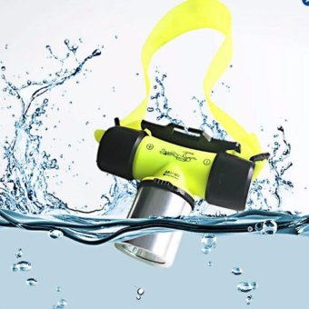 FFY 2000 Lumen Waterproof XML T6 LED Diving Flashlight Underwater20m Headlamp Headlight Dive Head Light Torch Lamp Bicycle CyclingLights (Yellow) - intl