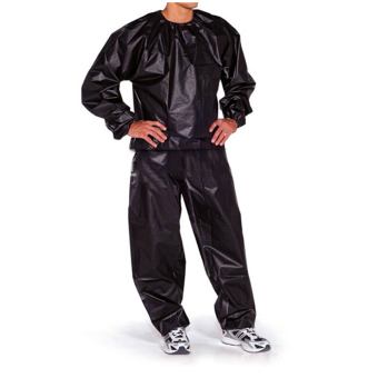 Fitness Loss Weight Sweat Suit Sauna Suit Exercise Gym Size L Black - 2