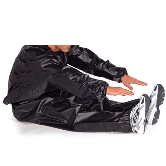 Fitness Loss Weight Sweat Suit Sauna Suit Exercise Gym Size L Black - 5