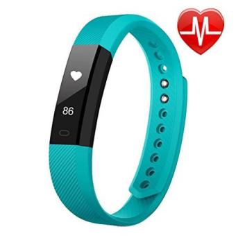 Fitness Tracker LETSCOM Fitness Tracker Watch with Heart RateMonitorSlim Touch Screen and Wristbands Wearable WaterproofActivity Tracker PedometerGreen for Android and iOS